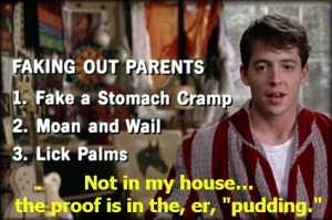 Ferris Bueller's fake out
