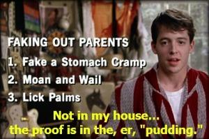 Ferris Bueller's fake out